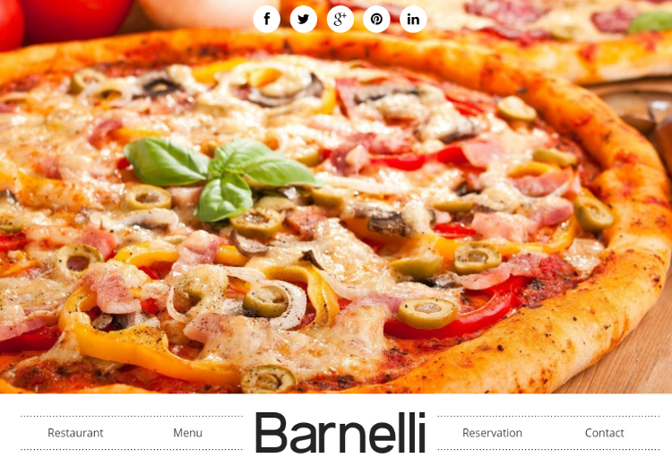 Barnelli Html5 Template Features Responsive Restaurant And Cafe 3 Types Of Menu Page Layouts Compatible With Bootstrap Framework
