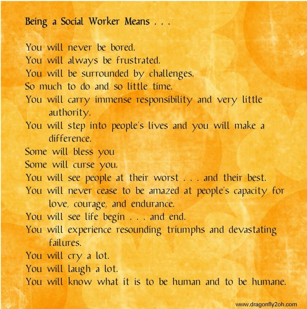 Being A Social Worker Means I Am A Social Worker