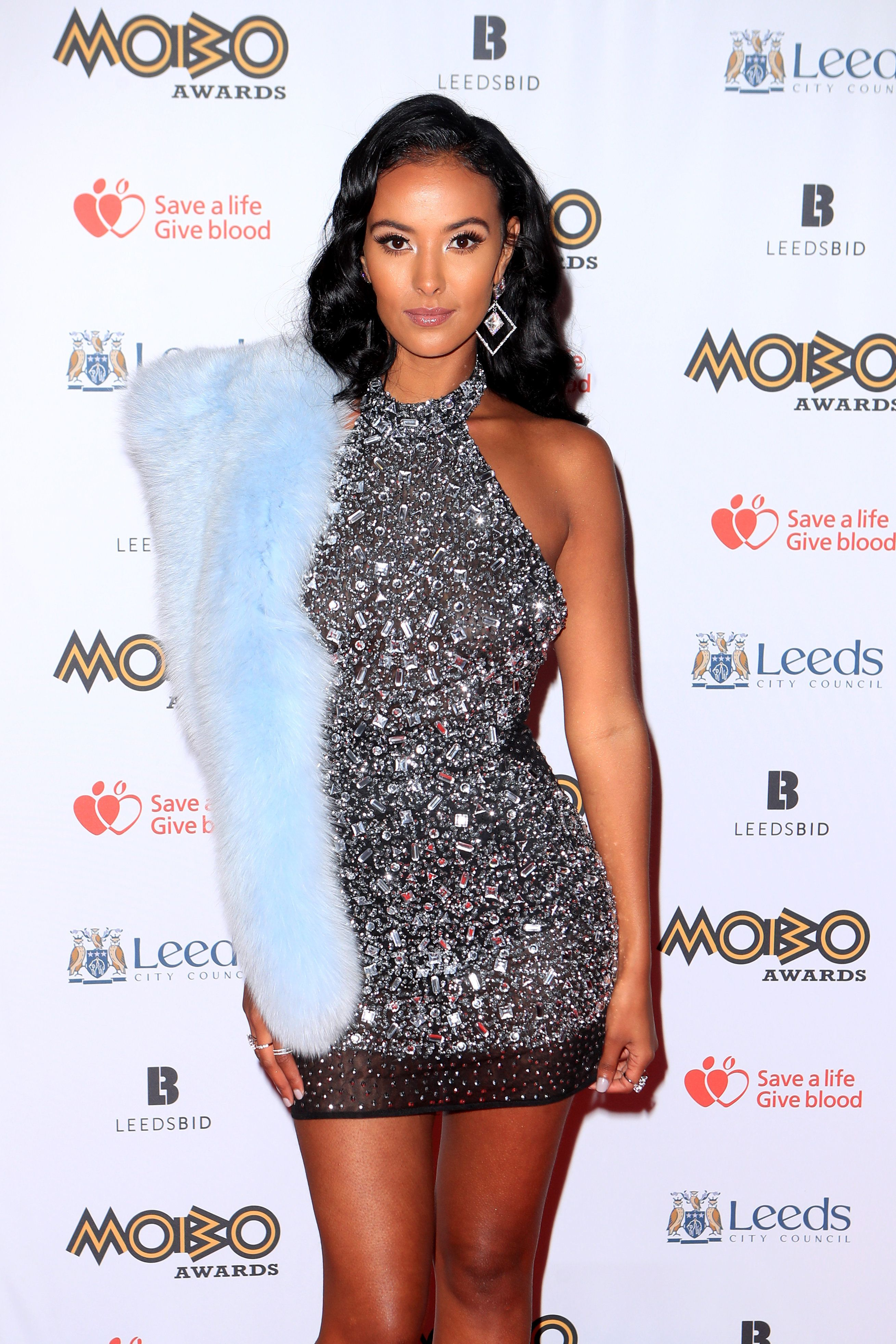 Maya Jama And Sarah Jane Crawford Twinned At The Mobo Awards Kicking Off The Sequins Trend Bodycon Dress Parties Sarah Jane Crawford Missguided