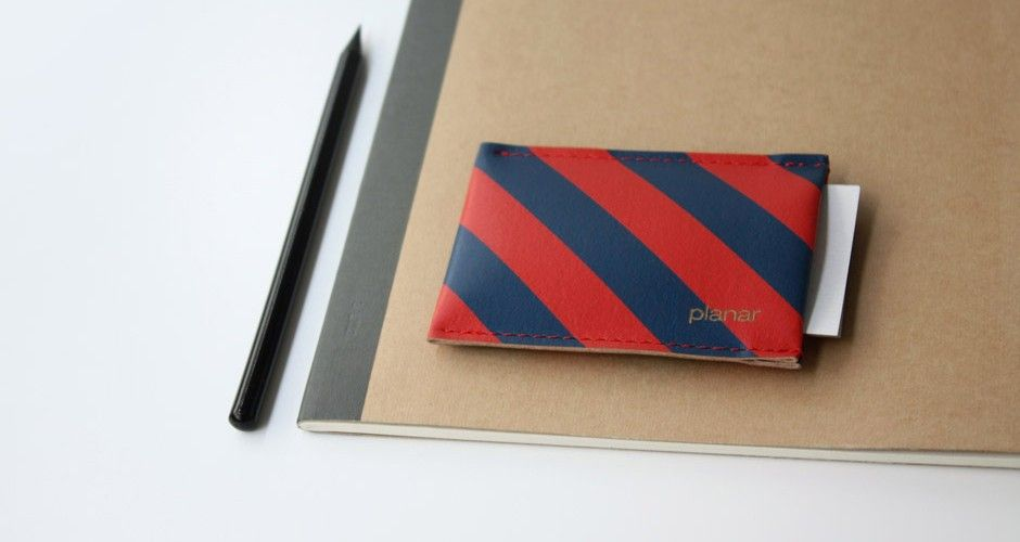 striped micro wallet by Planar