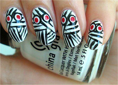 Mummy Halloween Nail art