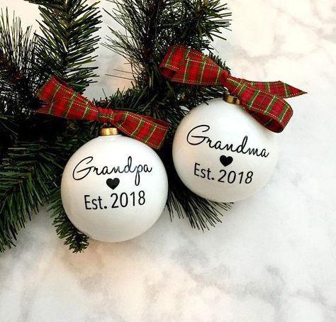 Grandparent ornament, birth announcements, baby coming soon, grandma grandpa gift #grandpagifts