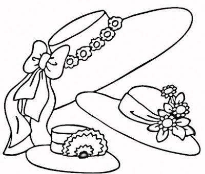 EASTER COLOURING: EASTER BONNETS COLOURING PIC   Easter Coloring ...