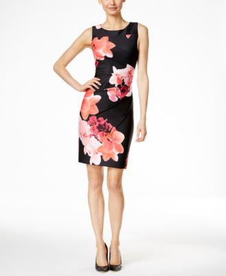 08163c02a7a8 Calvin Klein Floral-Print Sheath Dress
