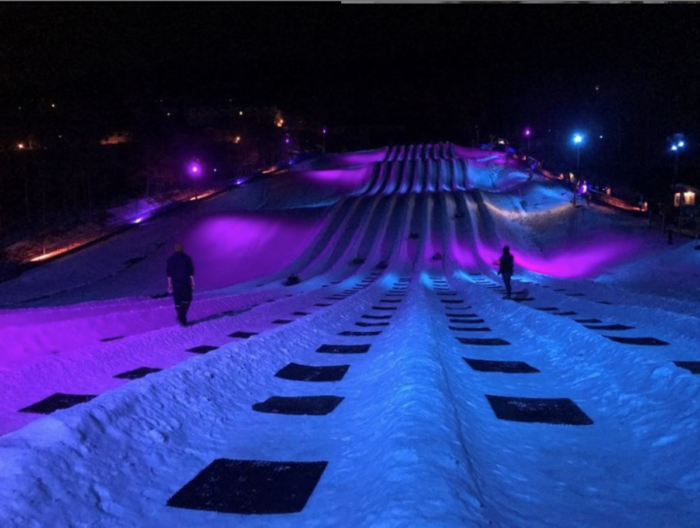 Photo of This Northern Lights Themed Tube Park Is The Winter Adventure In Virginia You Didn't Know You Needed