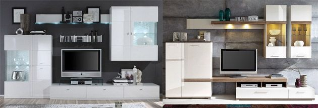 wohnwand wei hochglanz modern vom designer h ngend tv wohnwand wei hochglanz. Black Bedroom Furniture Sets. Home Design Ideas