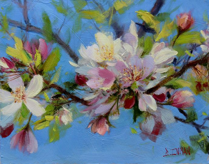 Bill_Inman_China_Girl_8x10_Apple_Blossom_Oil_Painting