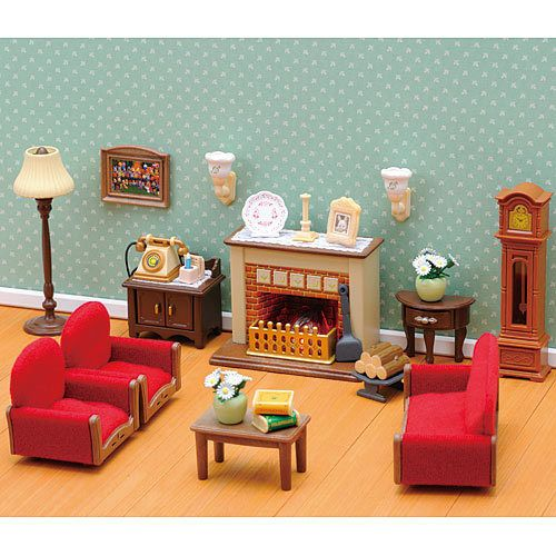 Luxury Living Room Set SYLVANIAN Families Figures Dolls