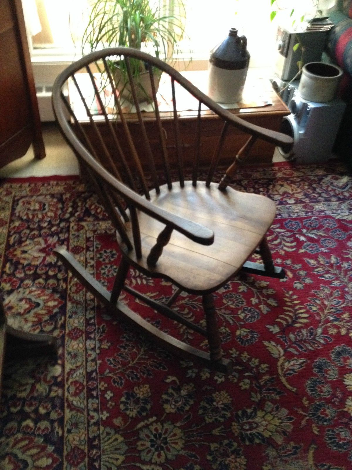 Gorgeous Antique Windsor Rocking Chair in Antiques, Furniture, Chairs, 1900-1950  | - Gorgeous Antique Windsor Rocking Chair In Antiques, Furniture