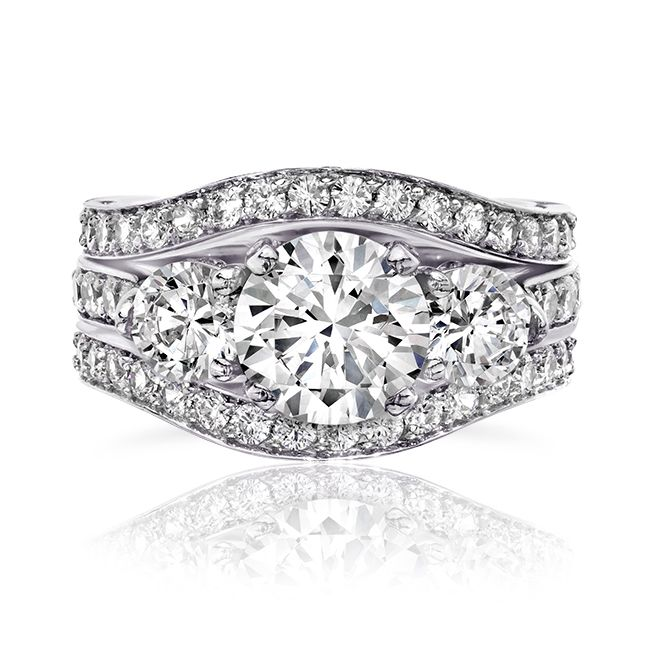20 Ct Round 14K CZ Wedding Set CZ Engagement Ring Cubic