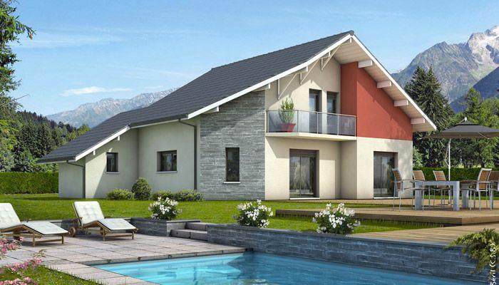Maison moderne Mont-Revard - plan maison gratuit maison Pinterest - construire sa maison 3d