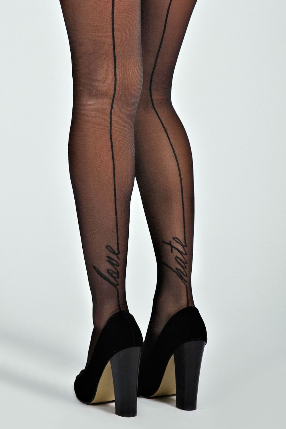 b3f205f2f Cara Love   Hate Sheer Seamed Tights at boohoo.com