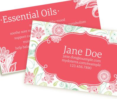 Paisley dream pink doterra business card creative essentials paisley dream pink doterra business card wajeb Choice Image