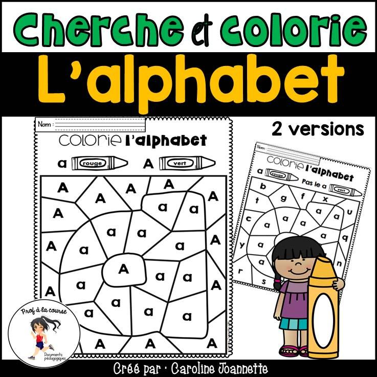 French Color And Discover The Letter/ Cherche Et Colorie L