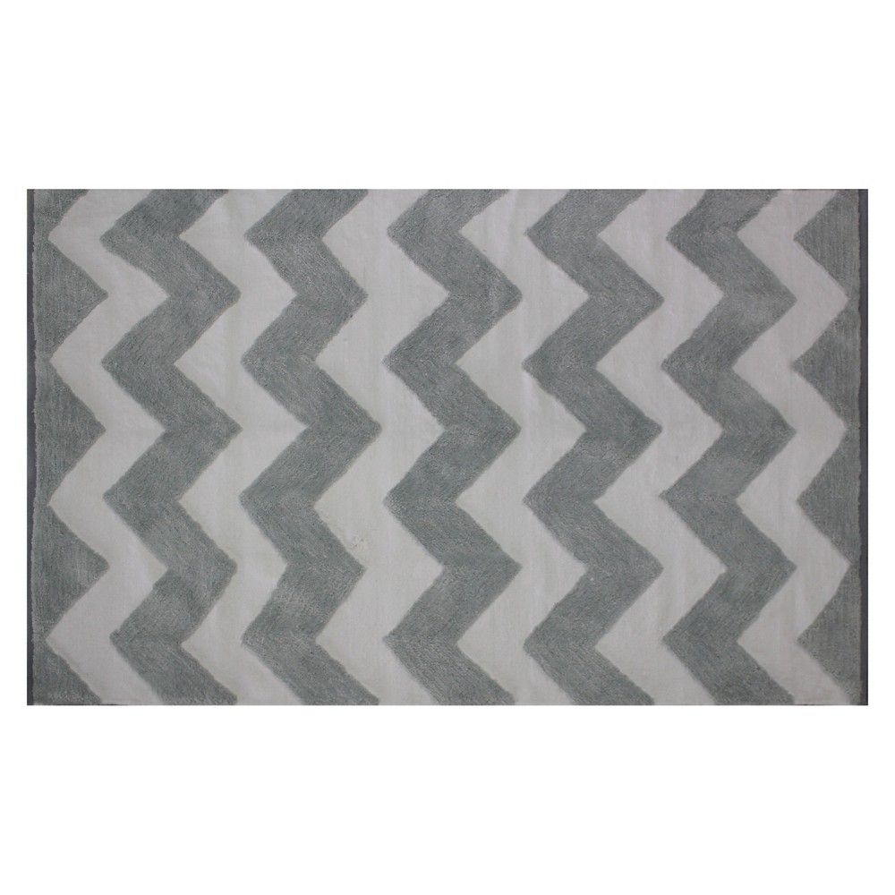 Circo Woven Chenille Accent Rug Gray Chevron 30 X 50 Grey White Accent Rugs Rugs Grey Rugs