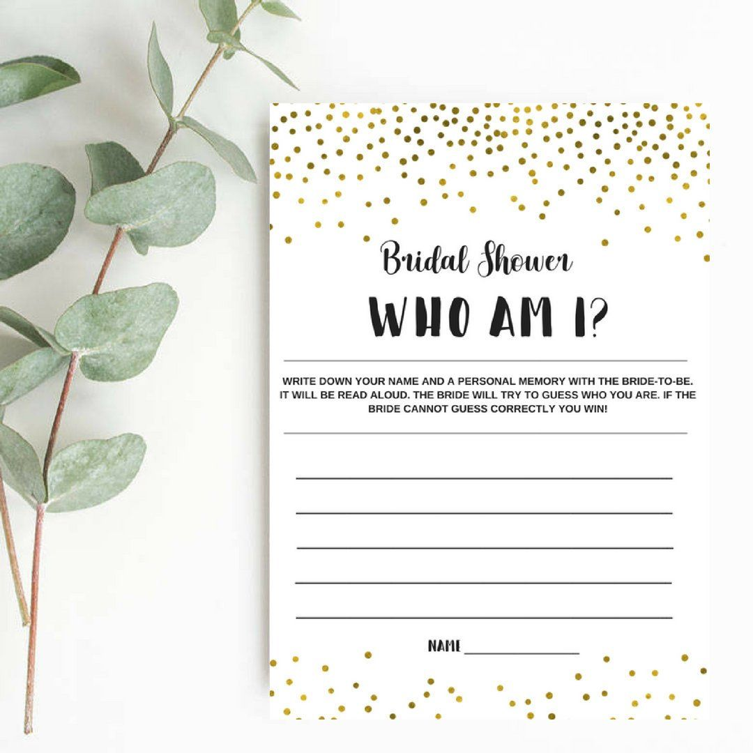 who am i game who am i bridal shower game printable memories of the
