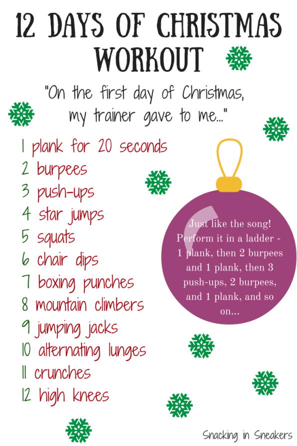 12 Days of Christmas Workout | Burpees, Workout and Songs