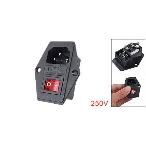 sodialr 3 pin iec320 c14 inlet module plug fuse switch male power rh pinterest ch