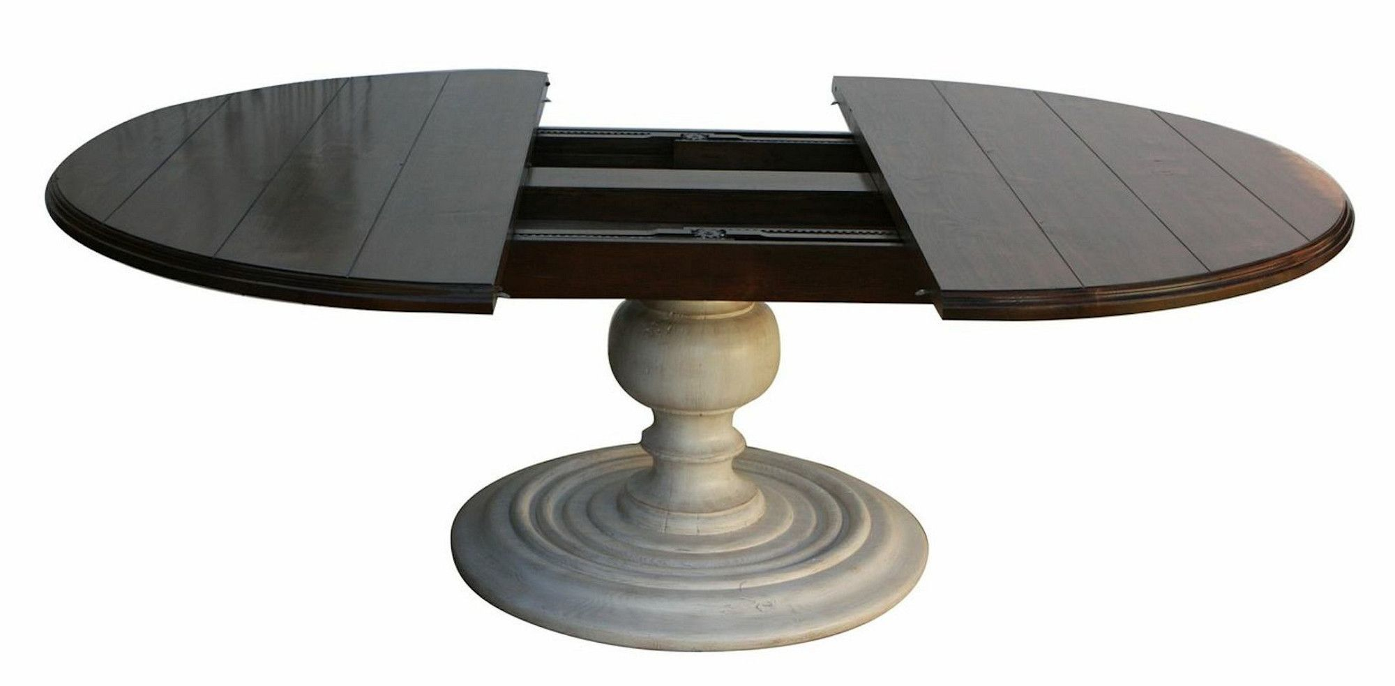 Salvaged Wood Plank Round Dining Table Round Dining Room Round Pedestal Dining Round Dining Room Table Round dining table with extensions