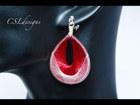 Threading wirework earrings - YouTube