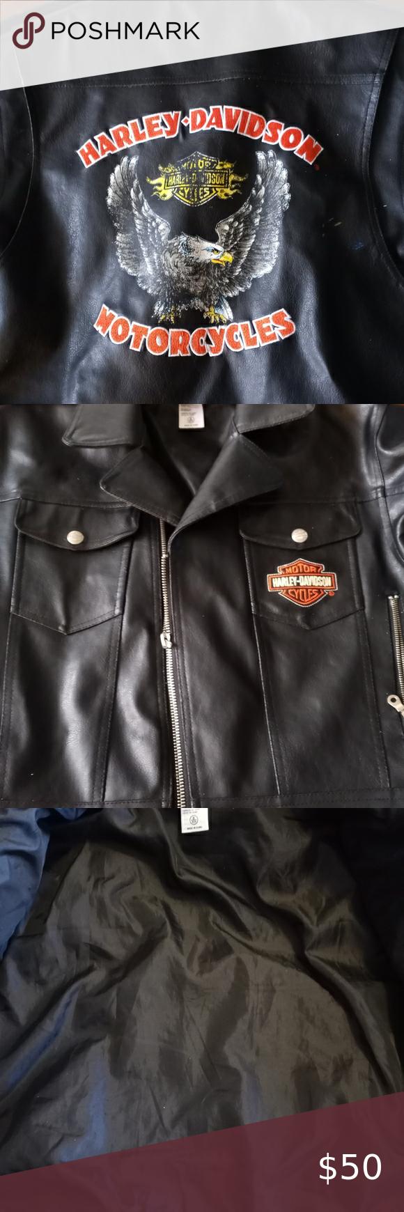 Harley Davidson Child S Jacket Kids Jacket Kids Denim Vest Faux Leather Biker Jacket [ 1740 x 580 Pixel ]