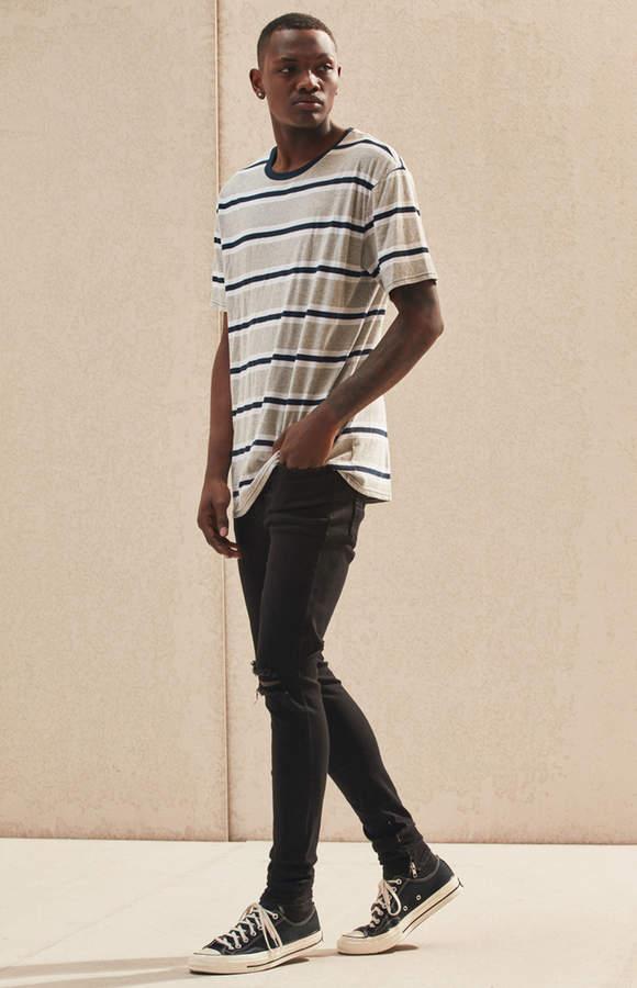832303da7b18 Pacsun Stacked Skinny Ripped Zip Black Jeans | Designer | Pacsun ...