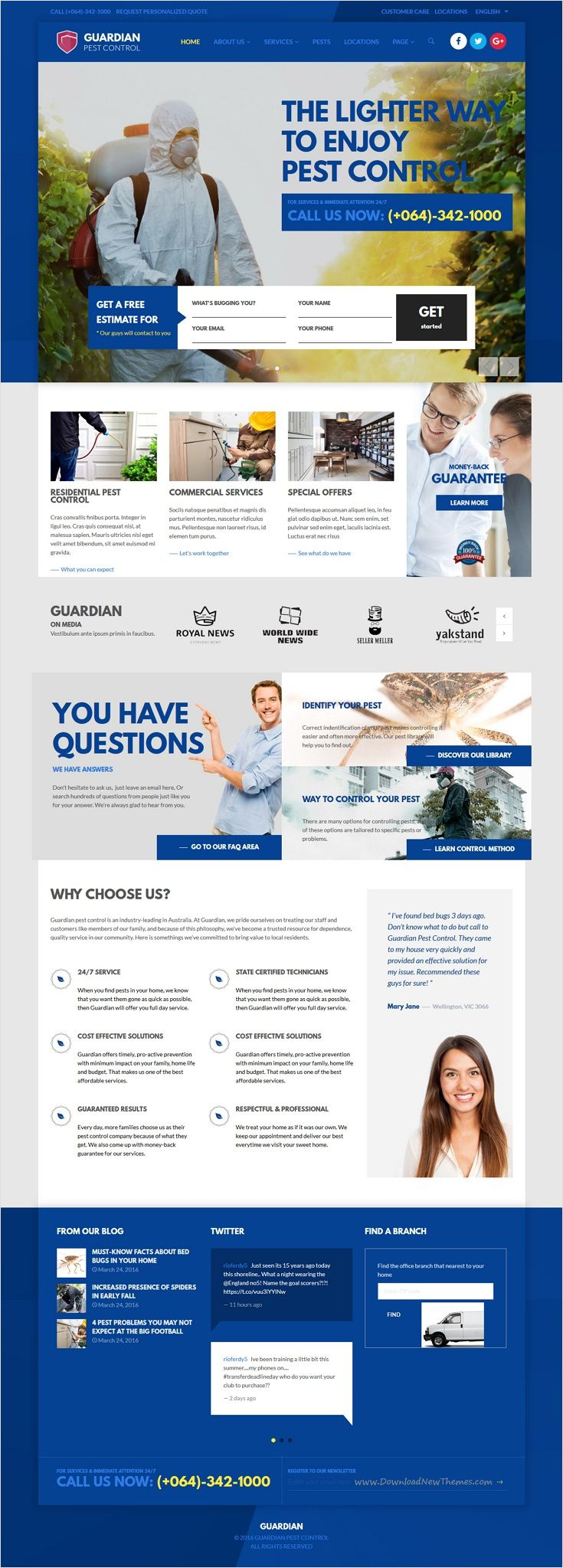 Guardian Is A Wonderful Responsive Wordpress Theme For Pest Control Business Website Download Now Https Themefore Pest Control Pests Pest Control Bed Bugs