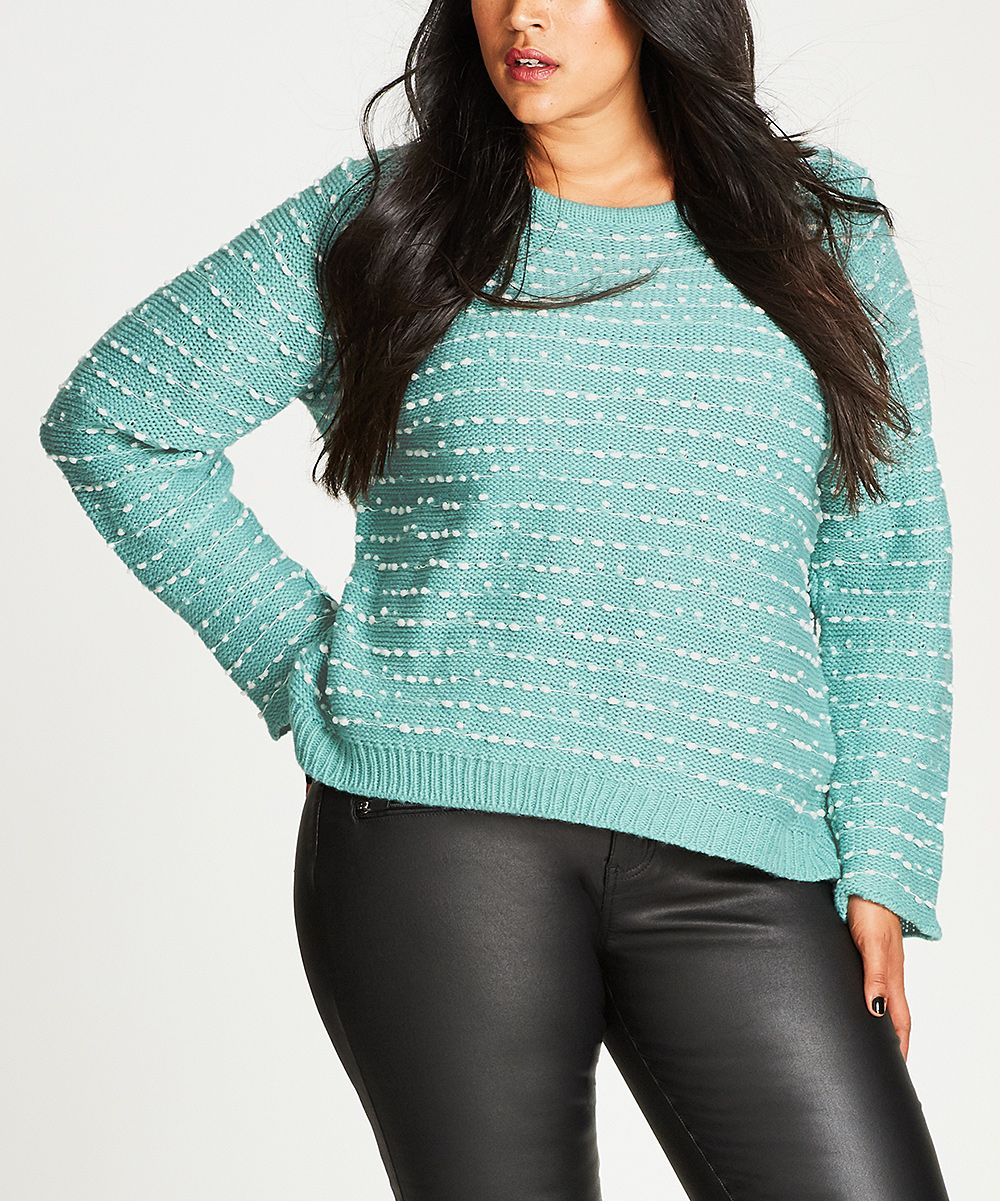 Dusty Blue Marled Back-Zip Long-Sleeve Sweater - Plus | Dusty blue ...