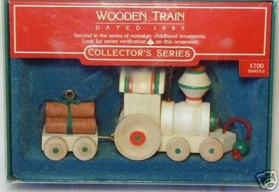 Wooden Train Hallmark Collector/'s Series Ornament