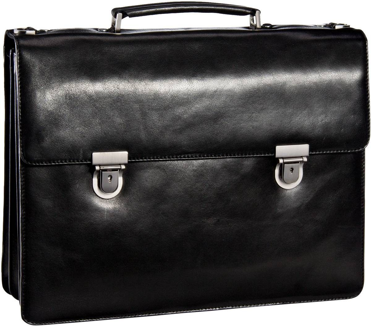 Leonhard Heyden Cambridge 5252 Aktenmappe 3 Fächer Schwarz - Notebooktasche   Tablet