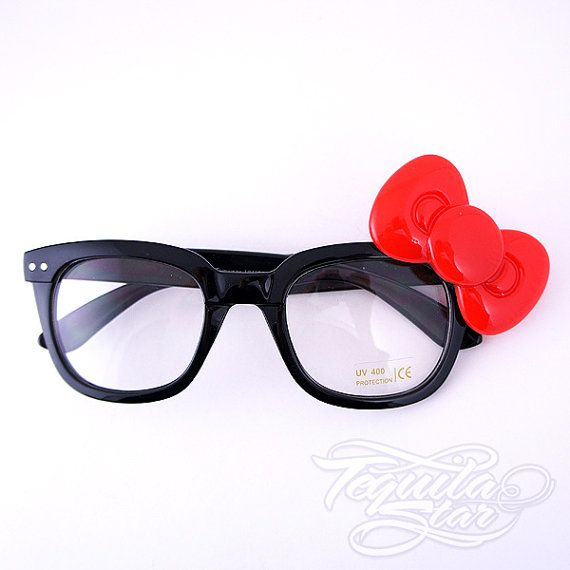 Items similar to Hello Kitty Bow Geek glasses. on Etsy