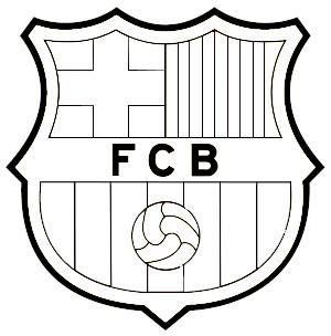Resultado de imagen para escudo del barcelona para pintar e