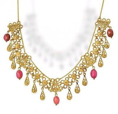 Elegant Toumanline 14k Gold  Necklace