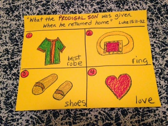 What the Prodigal Son was given when he returned home. # ...