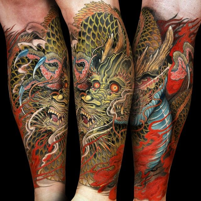 Jess Yen Dragon tattoo forearm, Dragon tattoos for men