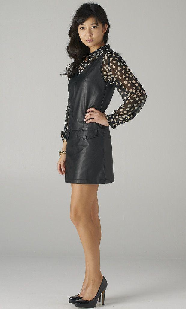 #leather #dress on www.shoppublik.com