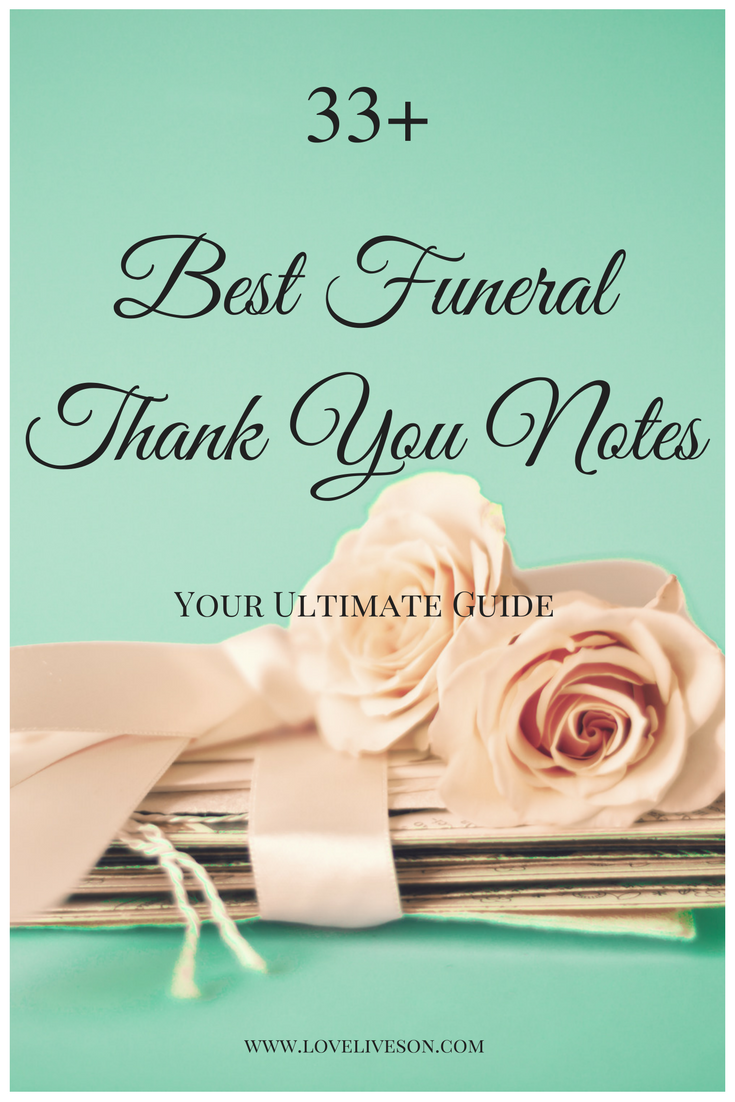 Best Funeral Thank You Cards  Funeral Pastor And Gratitude