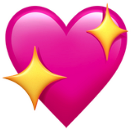 Sparkling Pink Heart Pink Means Diva So Like A Diva In Love This Emoji Image Was Replaced By Spark Cute Emoji Wallpaper Emoji Wallpaper Iphone Heart Emoji