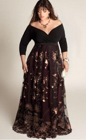 Robe de soiree noire femme ronde