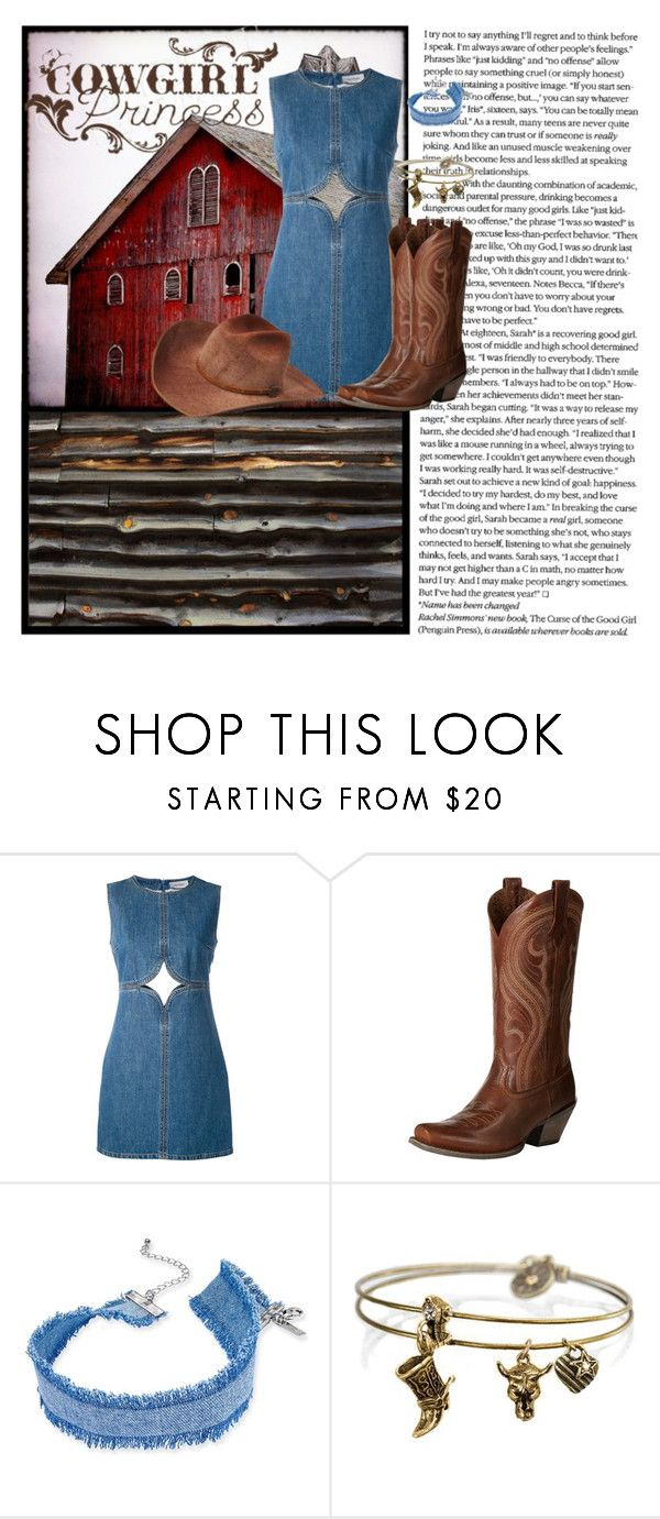 """""""Country Girl"""" by malecsizzyclace ❤ liked on Polyvore featuring Courrèges, Ariat, INC International Concepts, Sweet Romance, Bailey Western, WALL, country and cowgirl"""