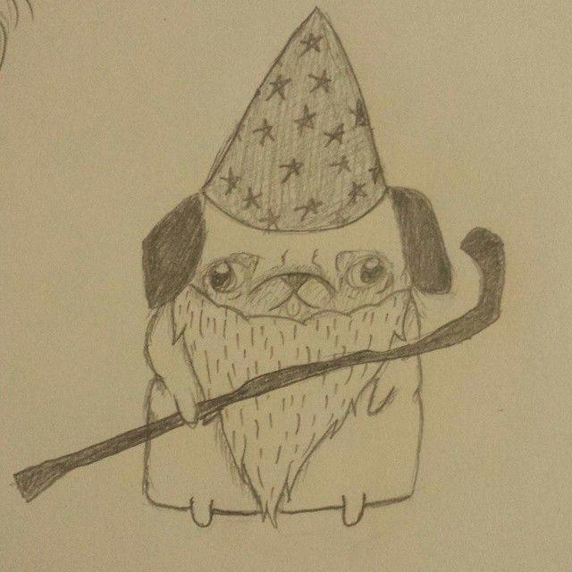 Me XD #doodle #wizard #pug #random #insanezombie