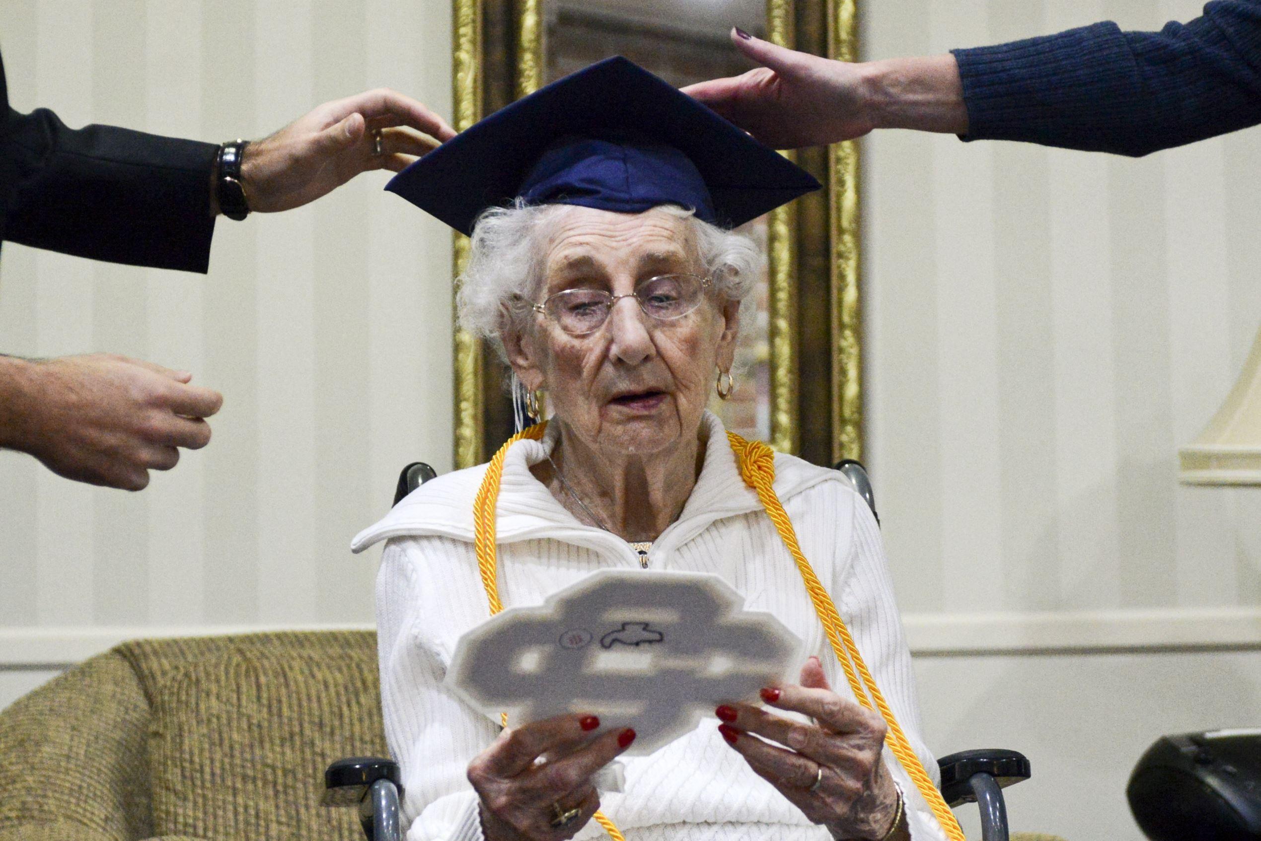 97yearold michigan woman receives high school diploma