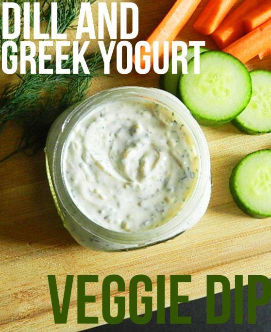 Dill And Greek Yogurt Veggie Dip