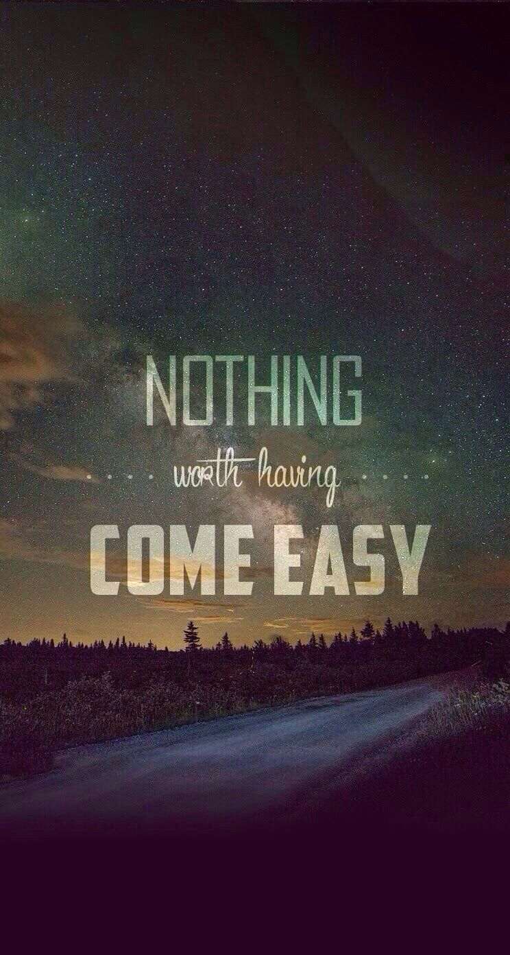 Hardwork and hardship can make us to be a breed and stronger person.  Never give up!