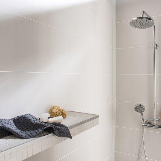 Faïence mur blanc mat, Purity l.30 x L.90 cm | salles de bains ...