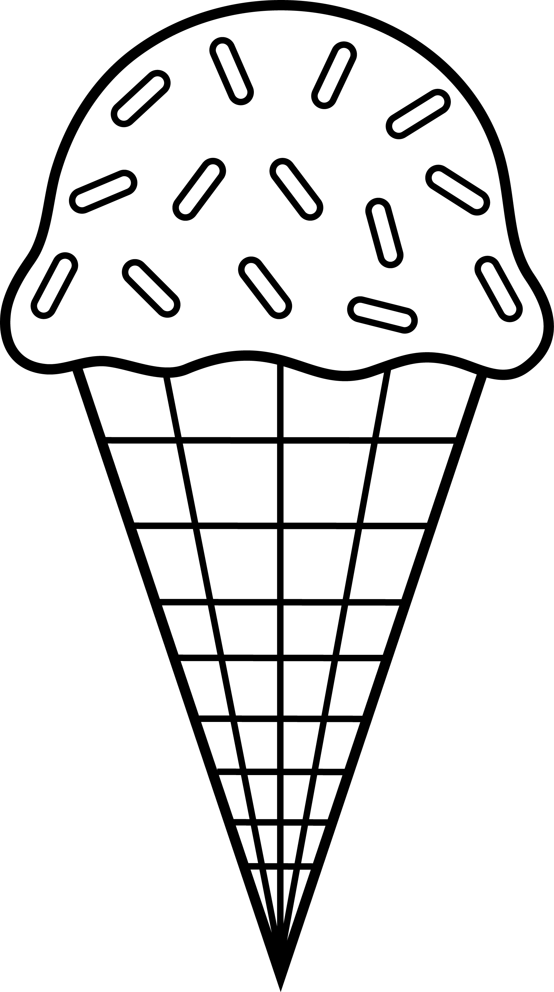Ice Cream Cone Clip Art Black White | Clip art | Ice cream ...