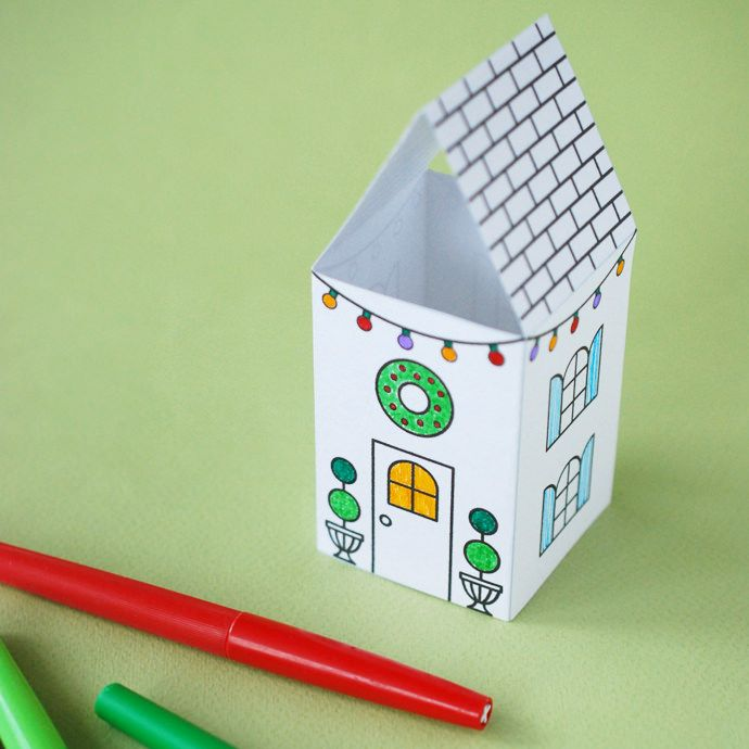 Christmas Coloring Pages How Cute Are These Printable Villages At Handmade Charlotte And Totally