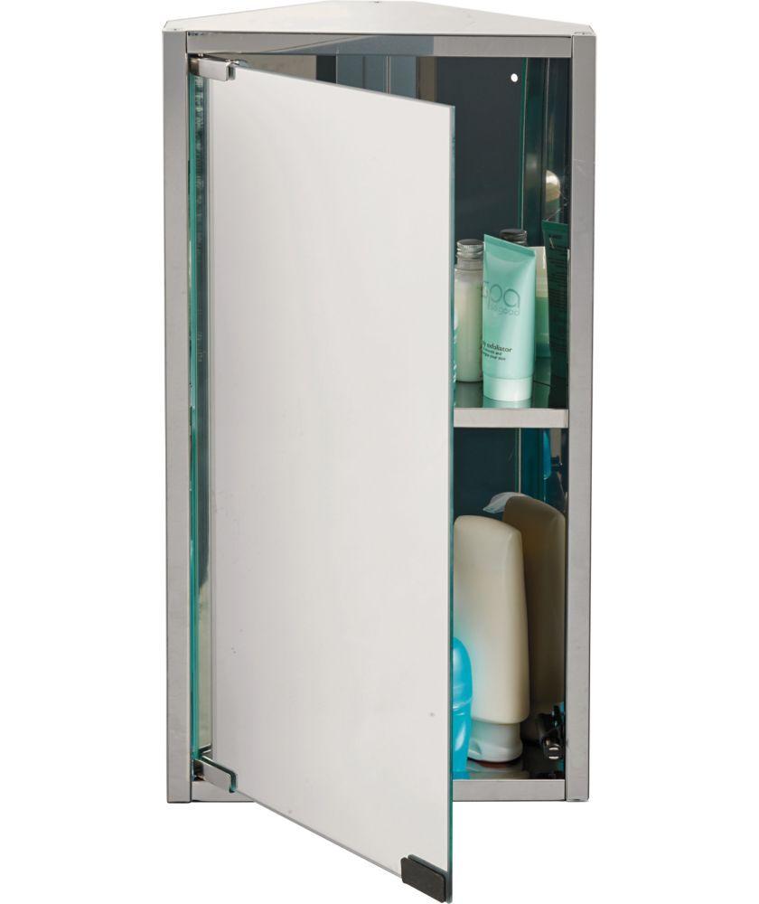 Buy Argos Home Stainless Steel 1 Door Mirrored Cabinet Bathroom Wall Cabinets Argos Mirror Cabinets Bathroom Corner Cabinet Argos Home