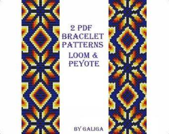 Peyote pattern 48 beading pattern peyote by ColorfulBeadPatterns