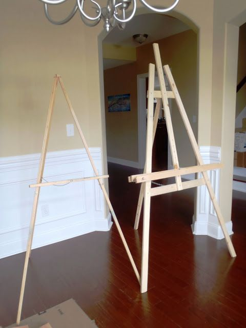 Build This Easel For Under 15 Easels Are Just Three
